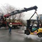 Sepetli Vinçle Forklift Taşıma