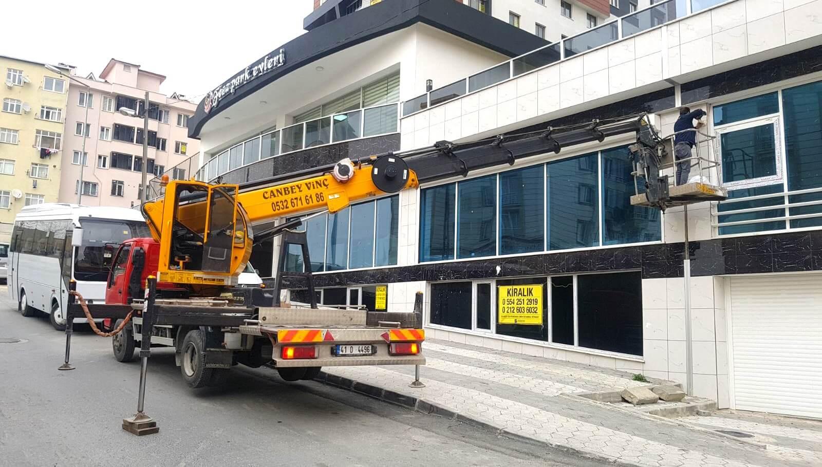 İstanbul Kiralık Sepetli Vinç